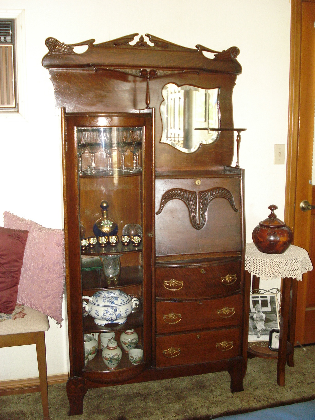 Enlarge Photo - Antiques.com ClassifiedsAntiques » Antique Furniture »  Antique - Antique Desk Hutch - Secretary Desk With Hutch Antique Antique Furniture