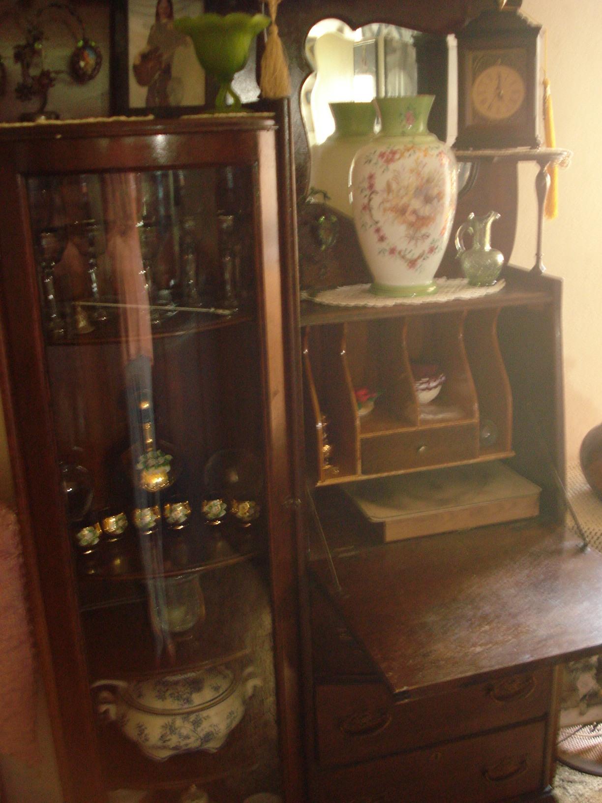 Antique Secretary Desk With Curved Glass Hutch Ideas - Antique Secretary Desk With Curved Glass Hutch - Desk Ideas