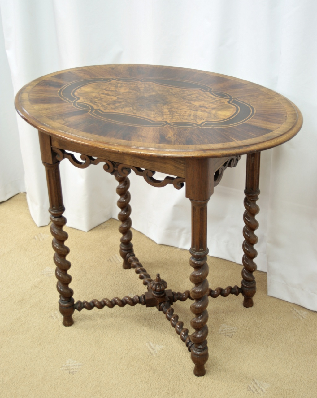 victorian walnut oval occasional table for sale antiques