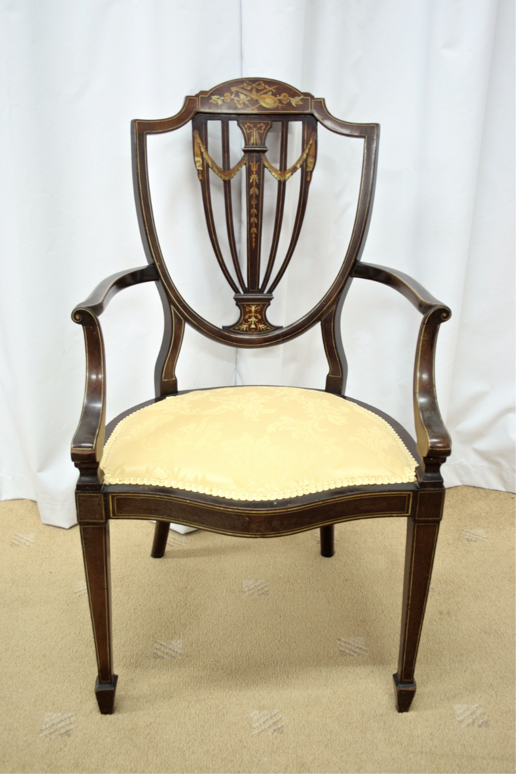 Edwardian Inlaid Bedroom Chair For Sale Classifieds