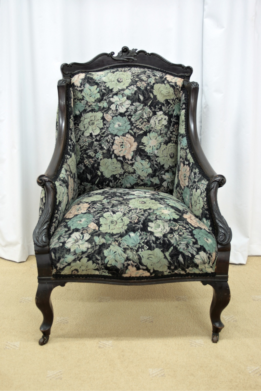 Late Victorian Mahogany Armchair For Sale | Antiques.com ...