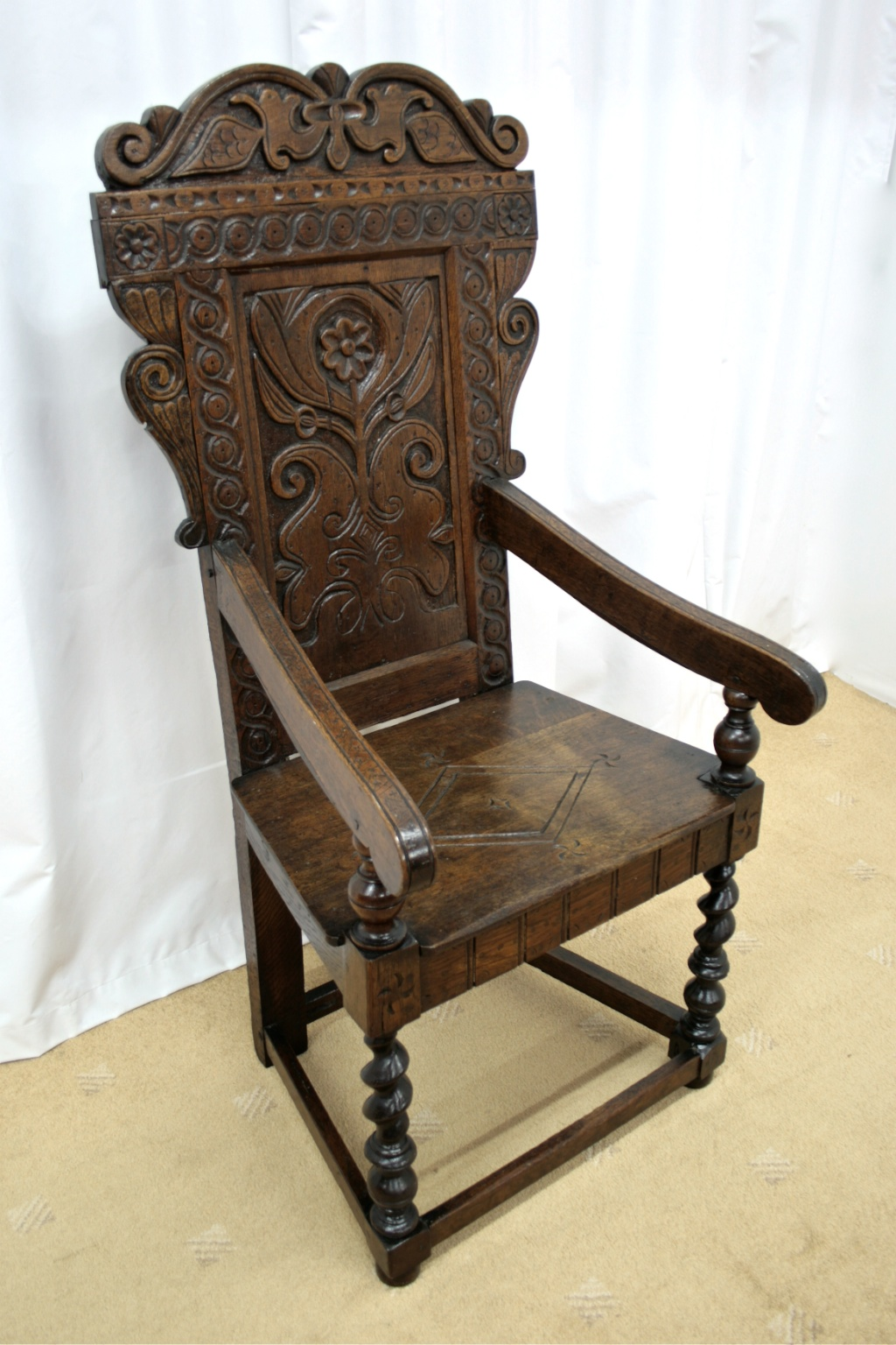 19th century oak wainscot style chairs for sale classifieds. Black Bedroom Furniture Sets. Home Design Ideas