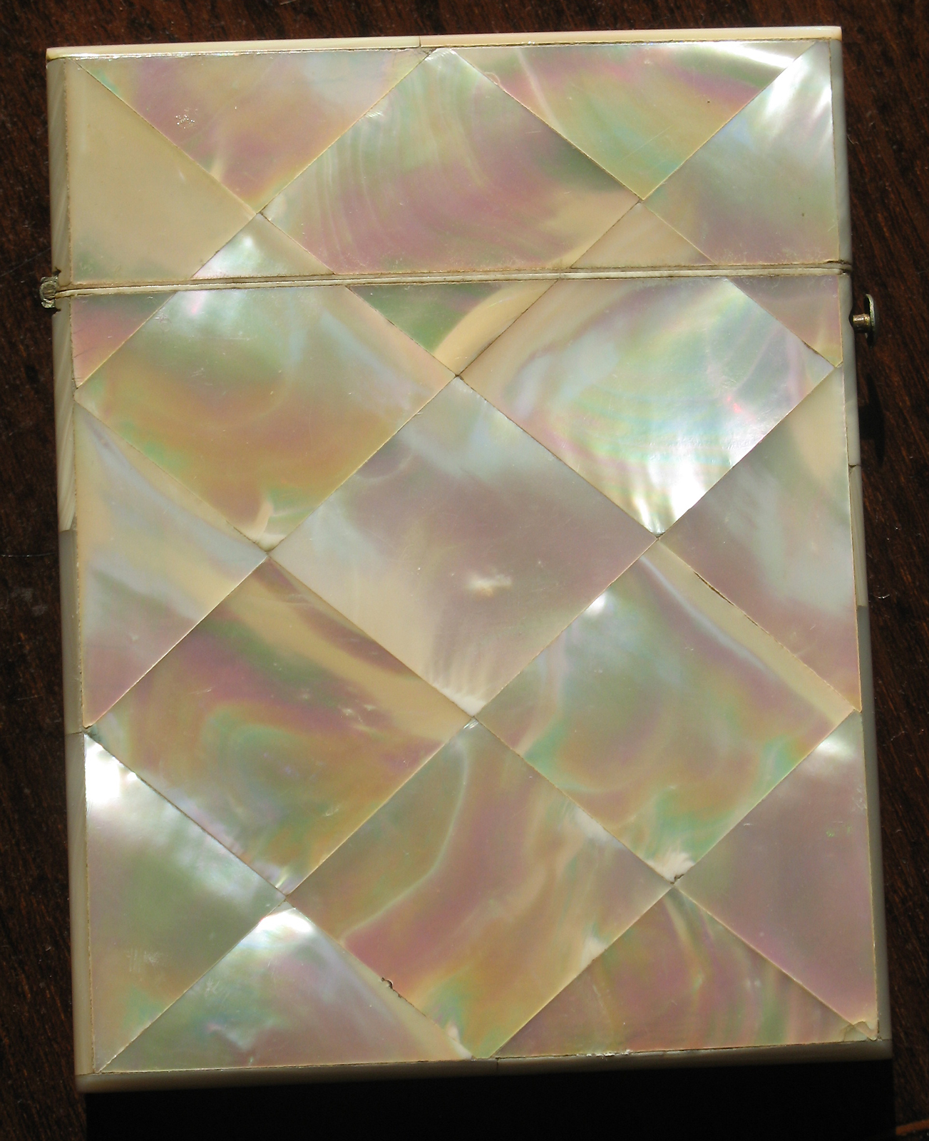 Antique : Decorated mother of pearl Visiting Card Case - 19th ...