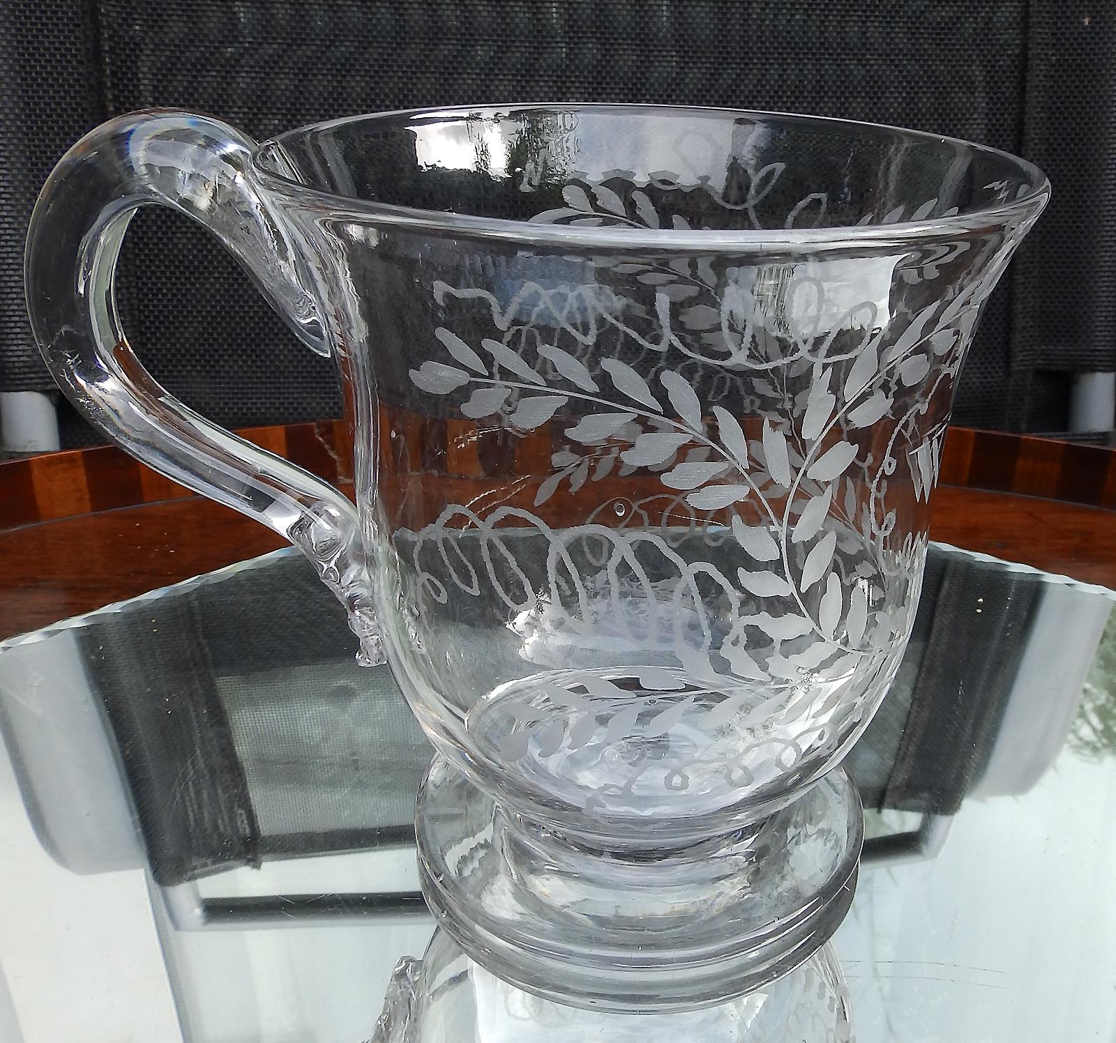 Antique Blown Glass : Extremely Rare Georgian Tankard