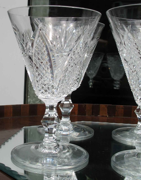 Waterford Glass A Superior Set Of Six 6x Crystal Wine