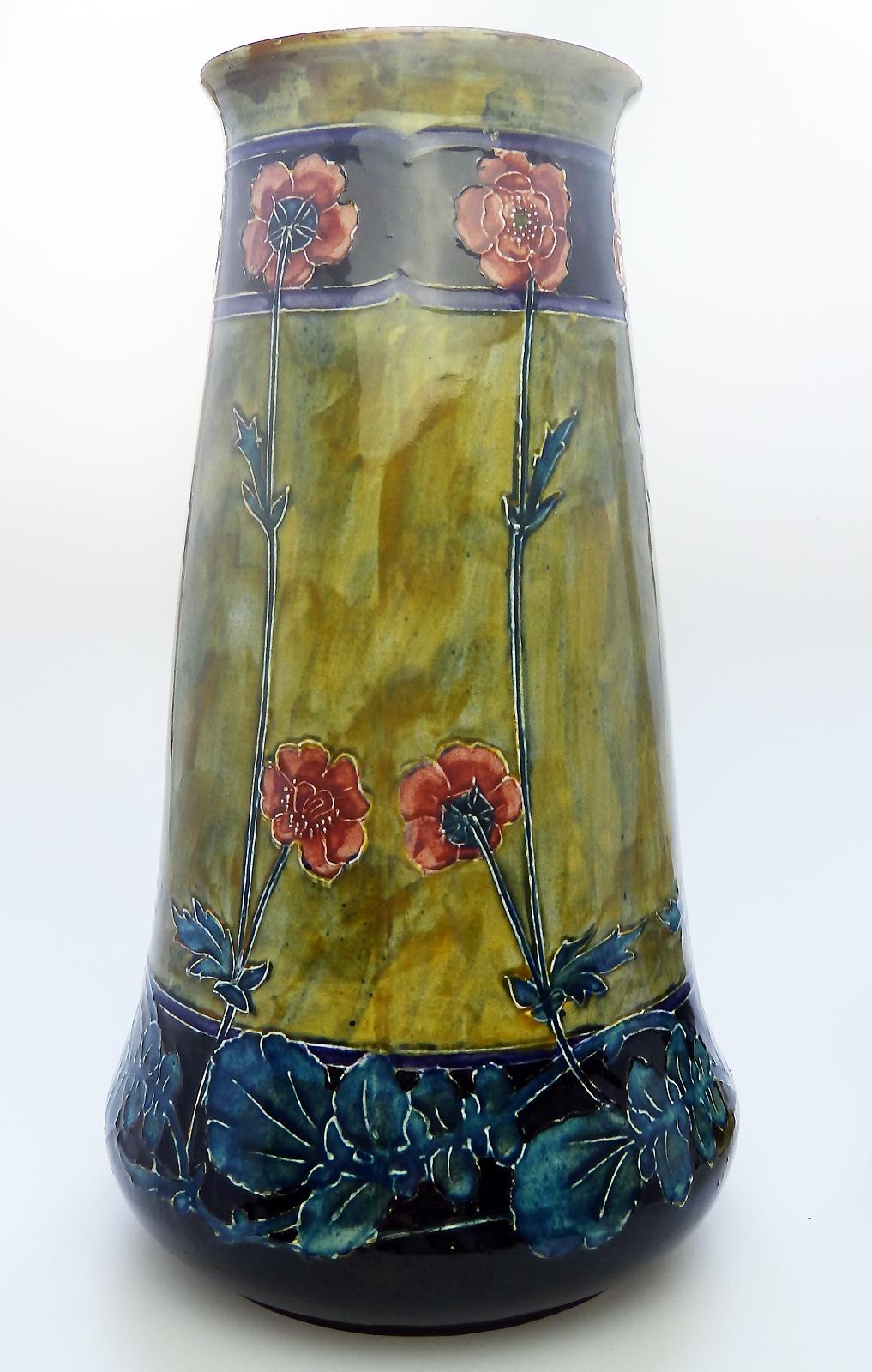 British Art Pottery A George Cartlidge Morris Ware Art Nouveau Vase C 1912 20 For Sale