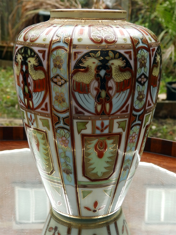 Antique Liberty Co A Wonderful Nippon Art Deco Hand Painted Vase