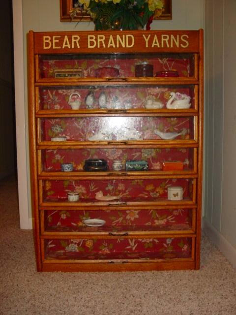 Bear Brand Yarns Oak Cabinet For Sale | Antiques.com | Classifieds