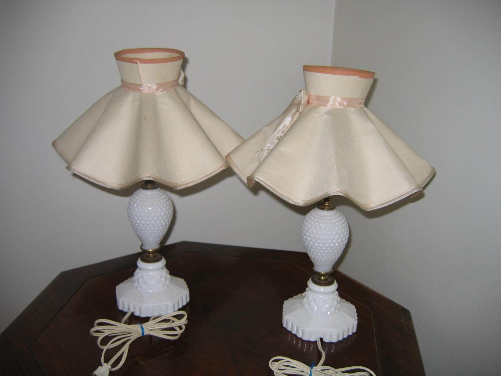 Vintage Matching Milk Glass Bedroom Lamps Item #772 For Sale ...