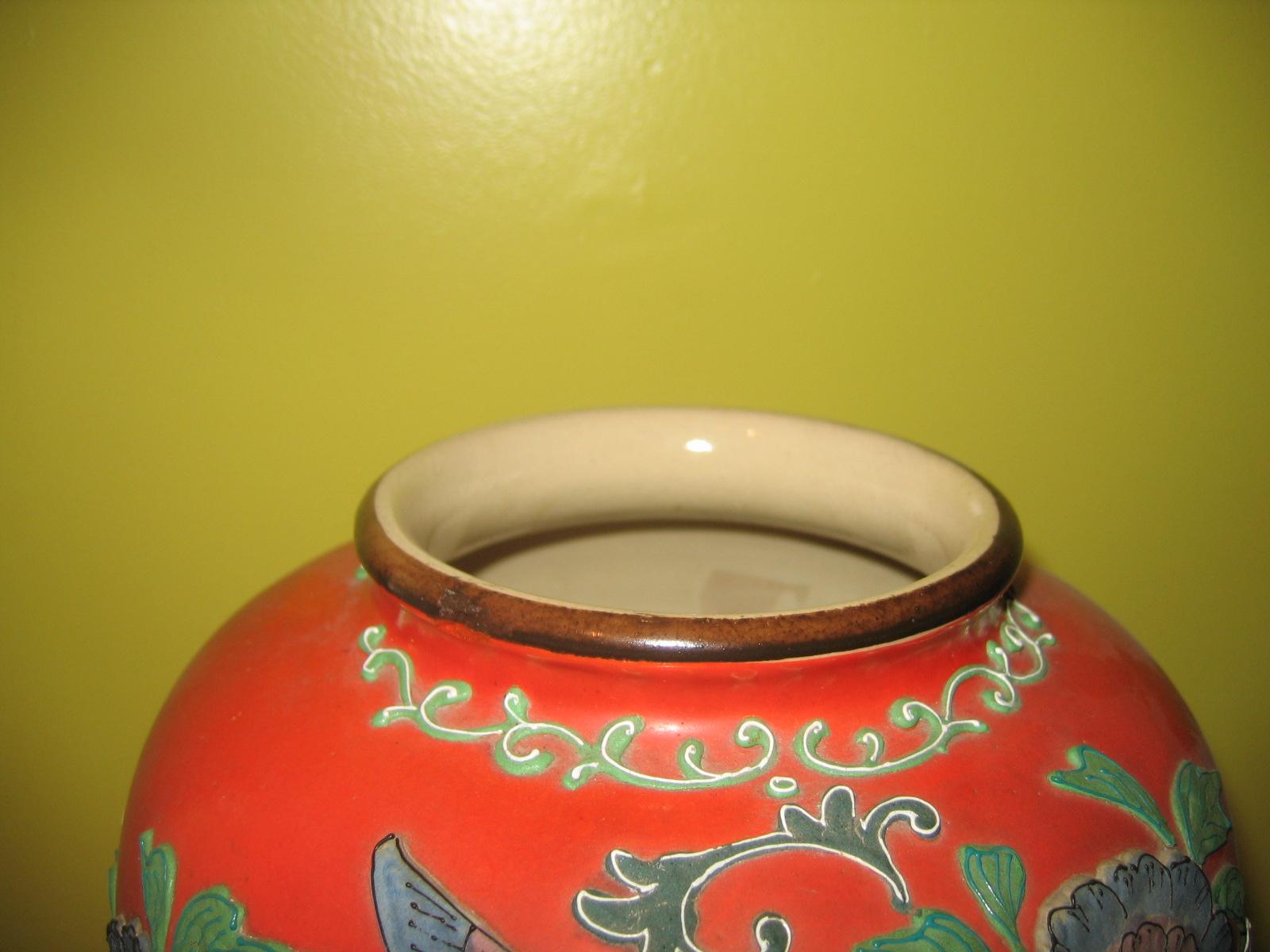Vintage japanese ceramic pottery majolica floral flower vase vintage japanese ceramic pottery majolica floral flower vase item 275 for sale reviewsmspy