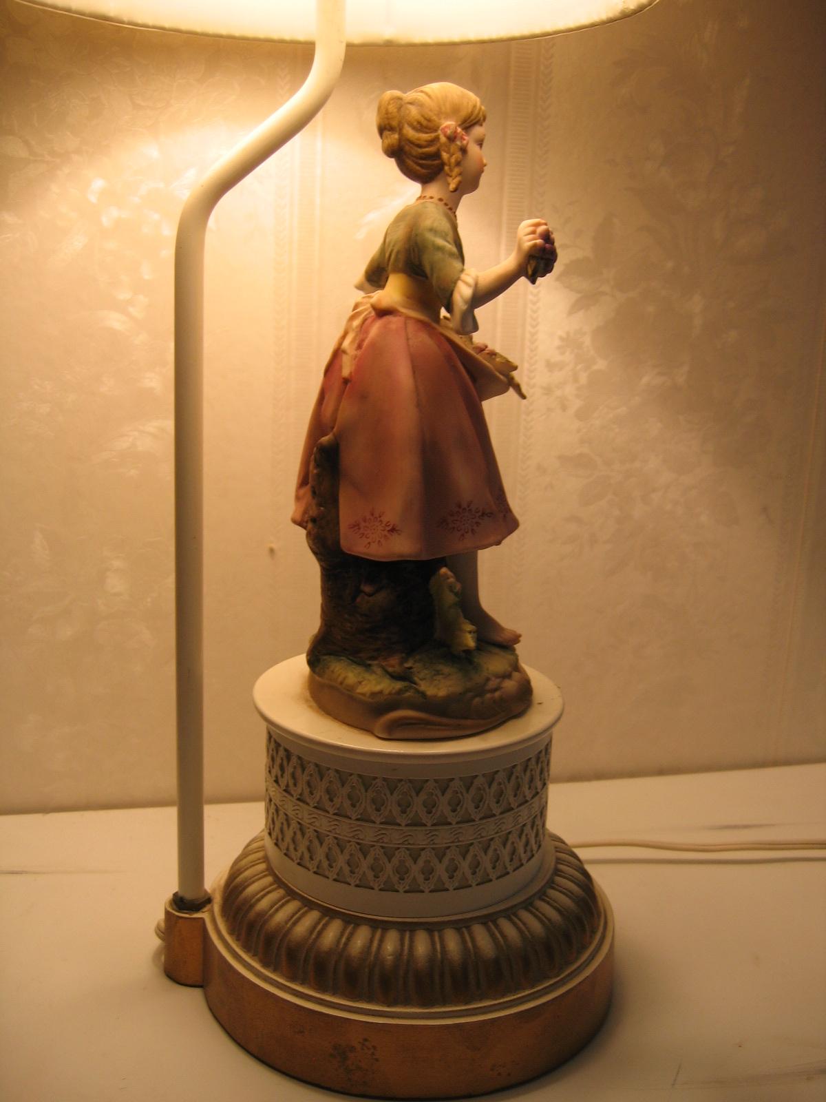 Vintage Victorian Lady Porcelain Figurine Entry Table