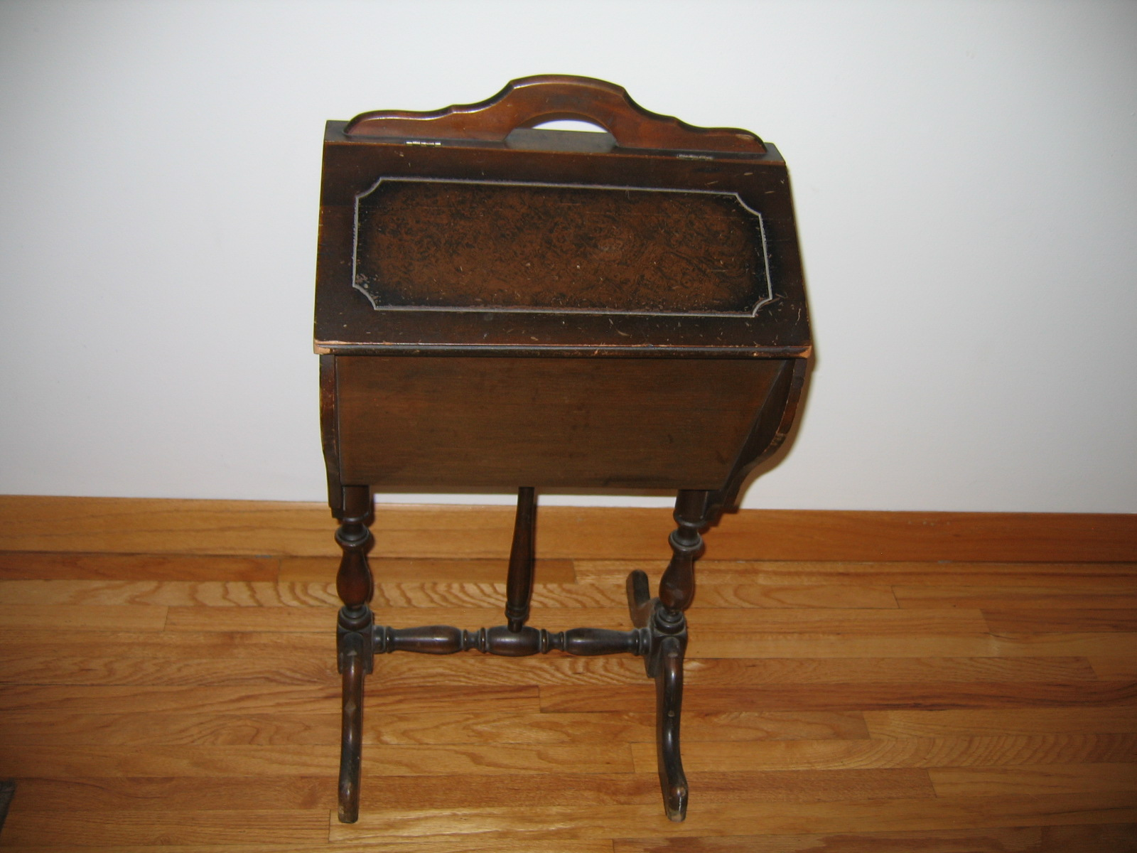 Vintage Wooden Sewing Hutch Cabinet / Box Stand Item #1048   For Sale