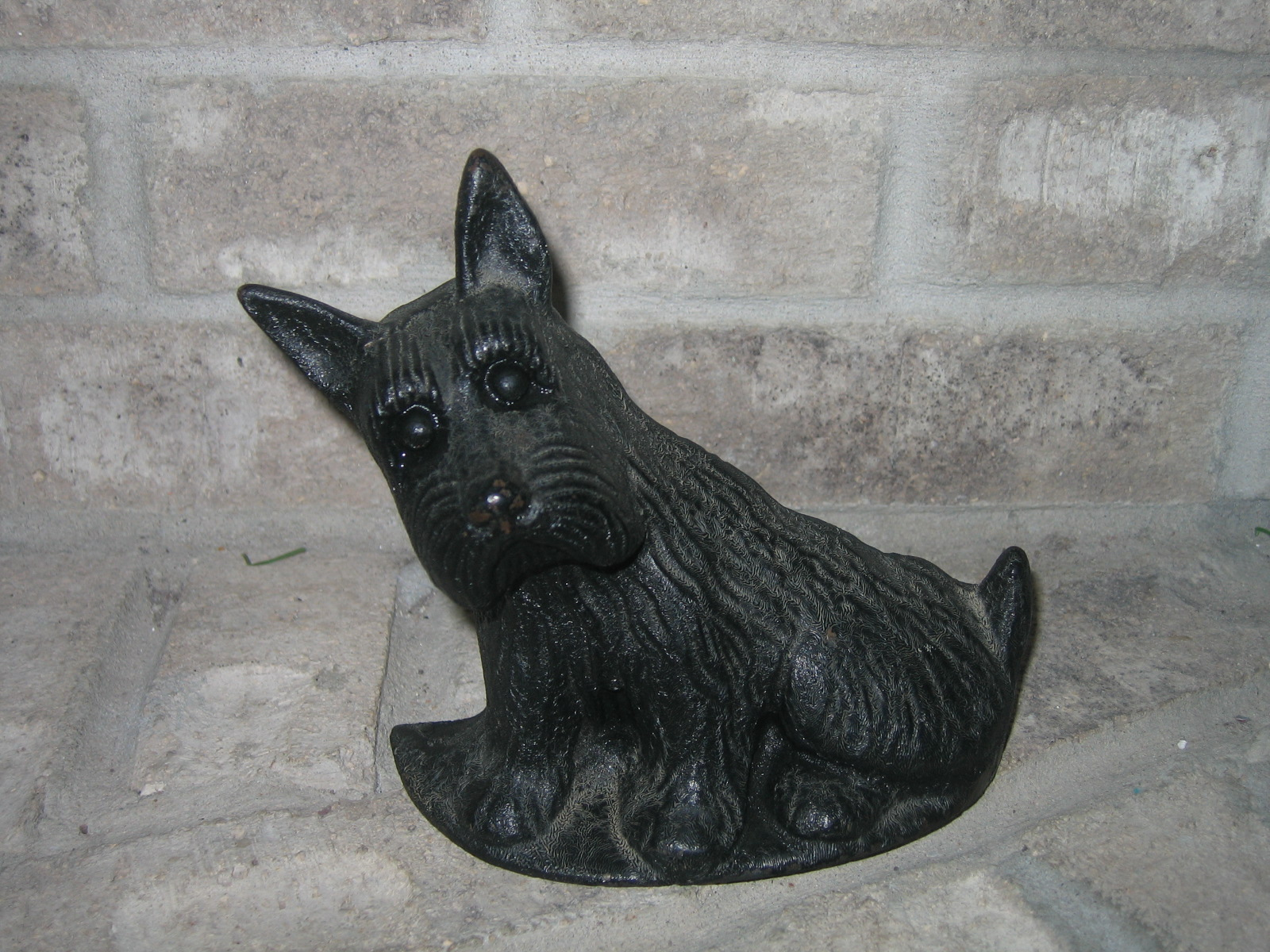 Vintage Cast Iron Scottie Dog Door Stop Item 414 For Sale