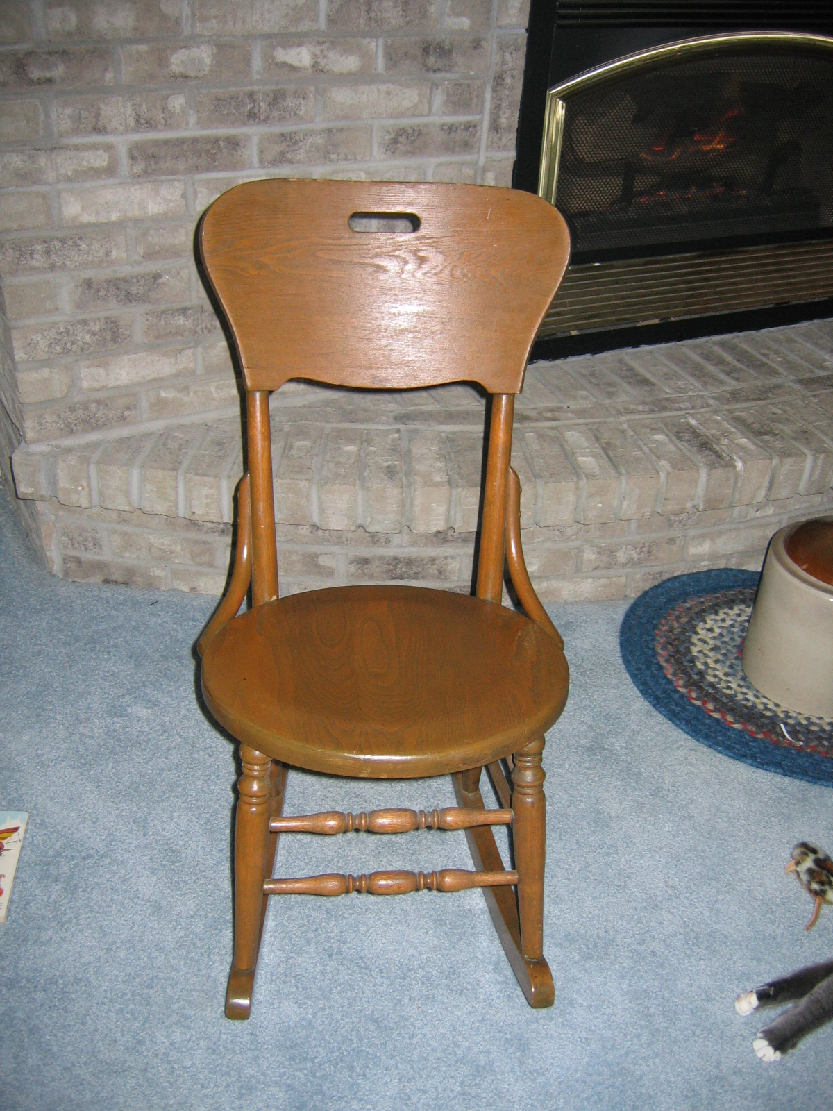 Vintage Ladies Knitting Wood Rocking Chair Item #811 For Sale ...
