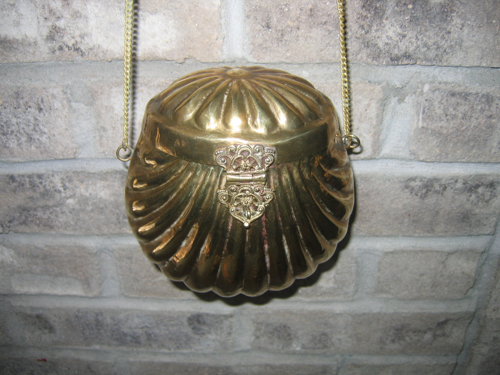vintage brass purse bought