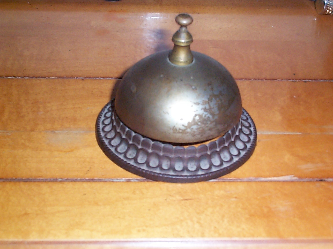 Ringer Bell Antique Hotel Front Desk Has A Metal Cast Iron Base Great Working Little Bit More Cleaning Most Likely Was