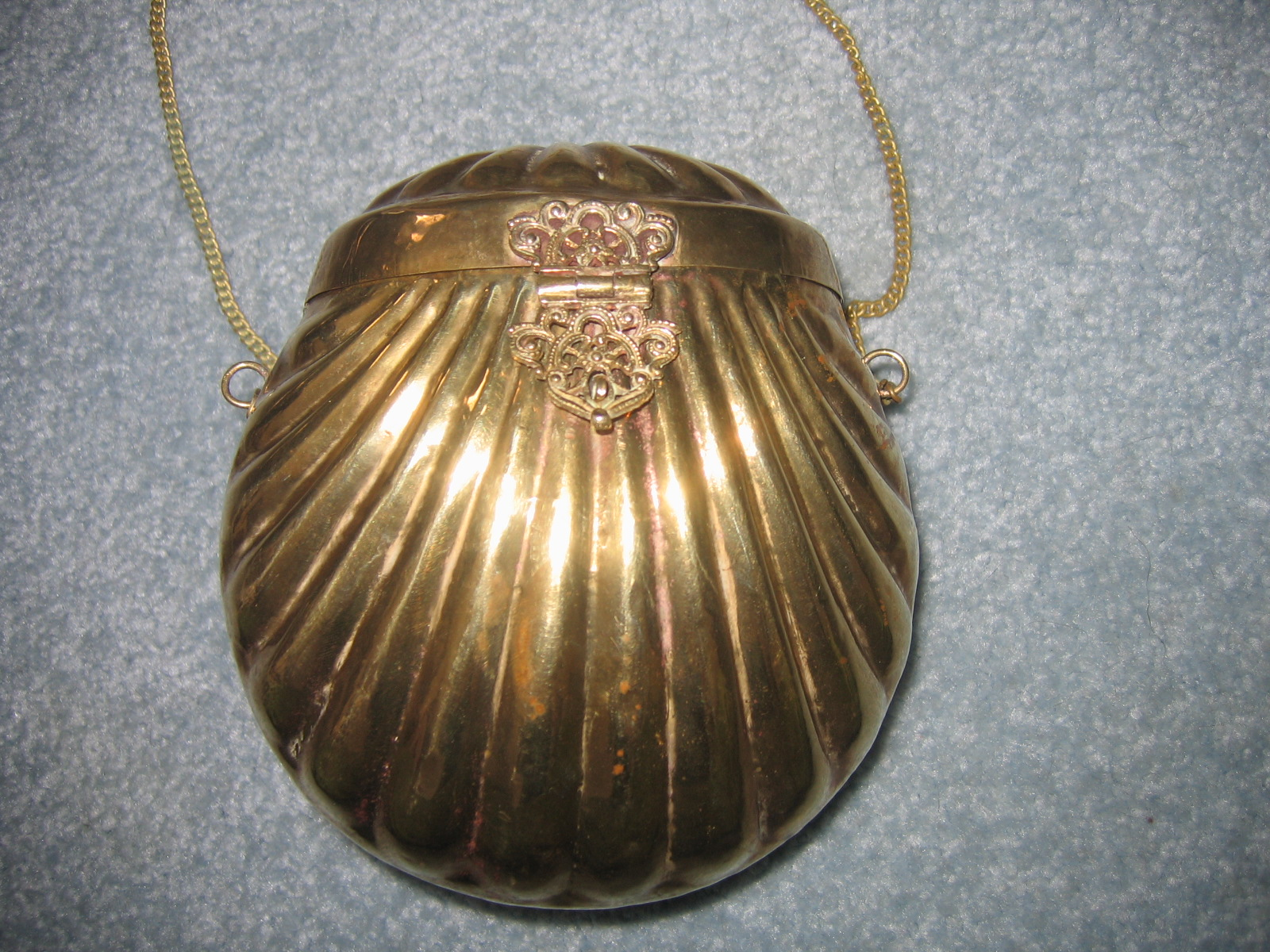 vintage brass purse publicly one