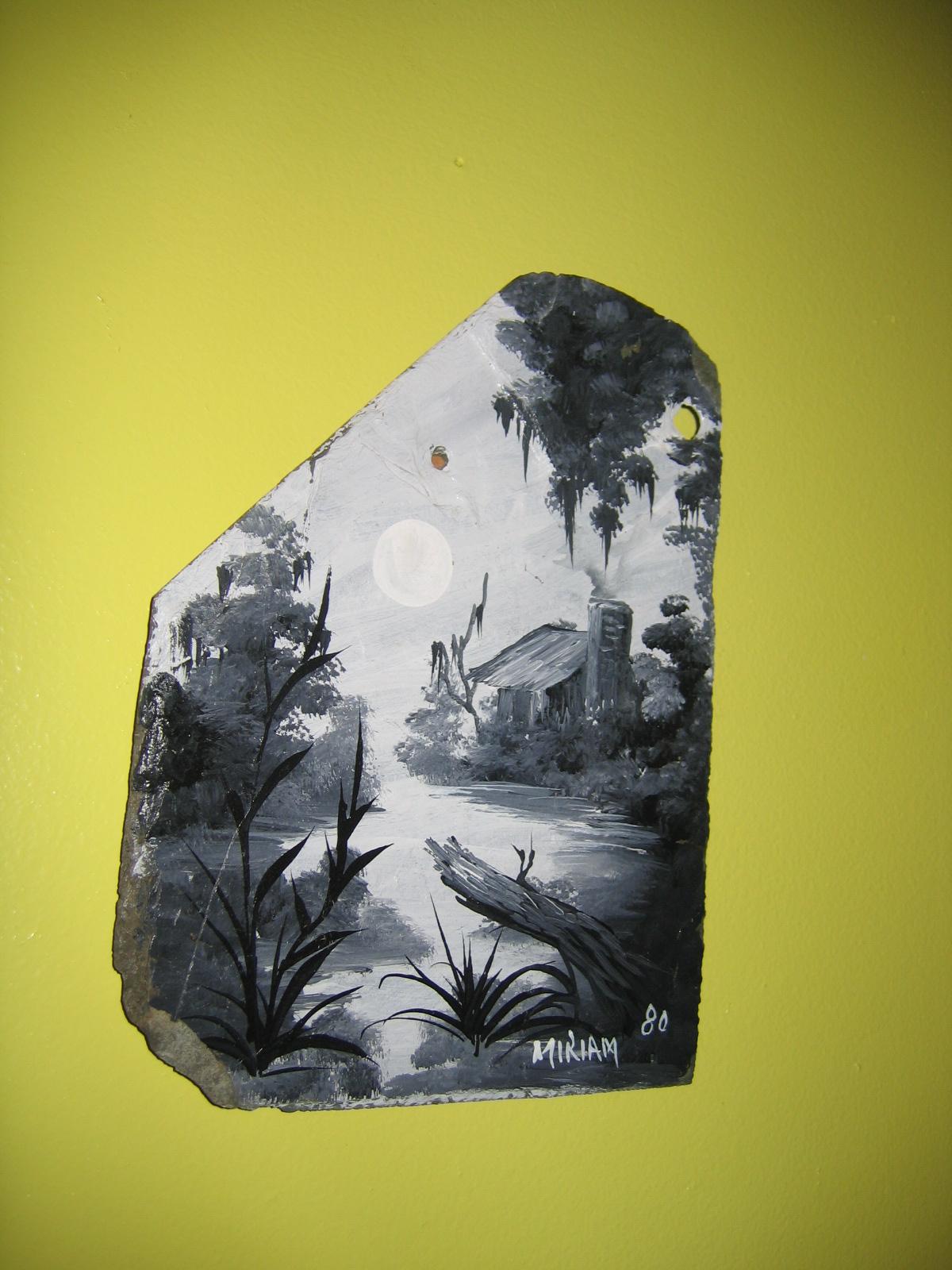 Contemporary Original Art Miriam Ragan 1980 The Bayou Swampland Oil ...