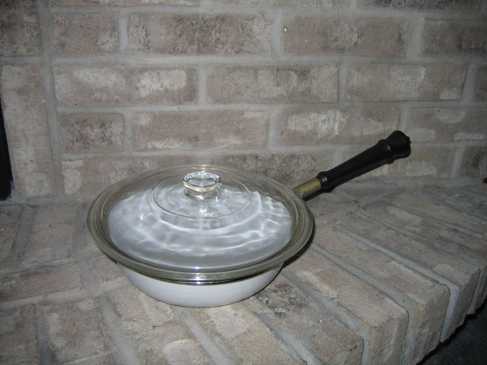 Antique Turn Of The 20th Century White Enamelware Cookware Pan ...