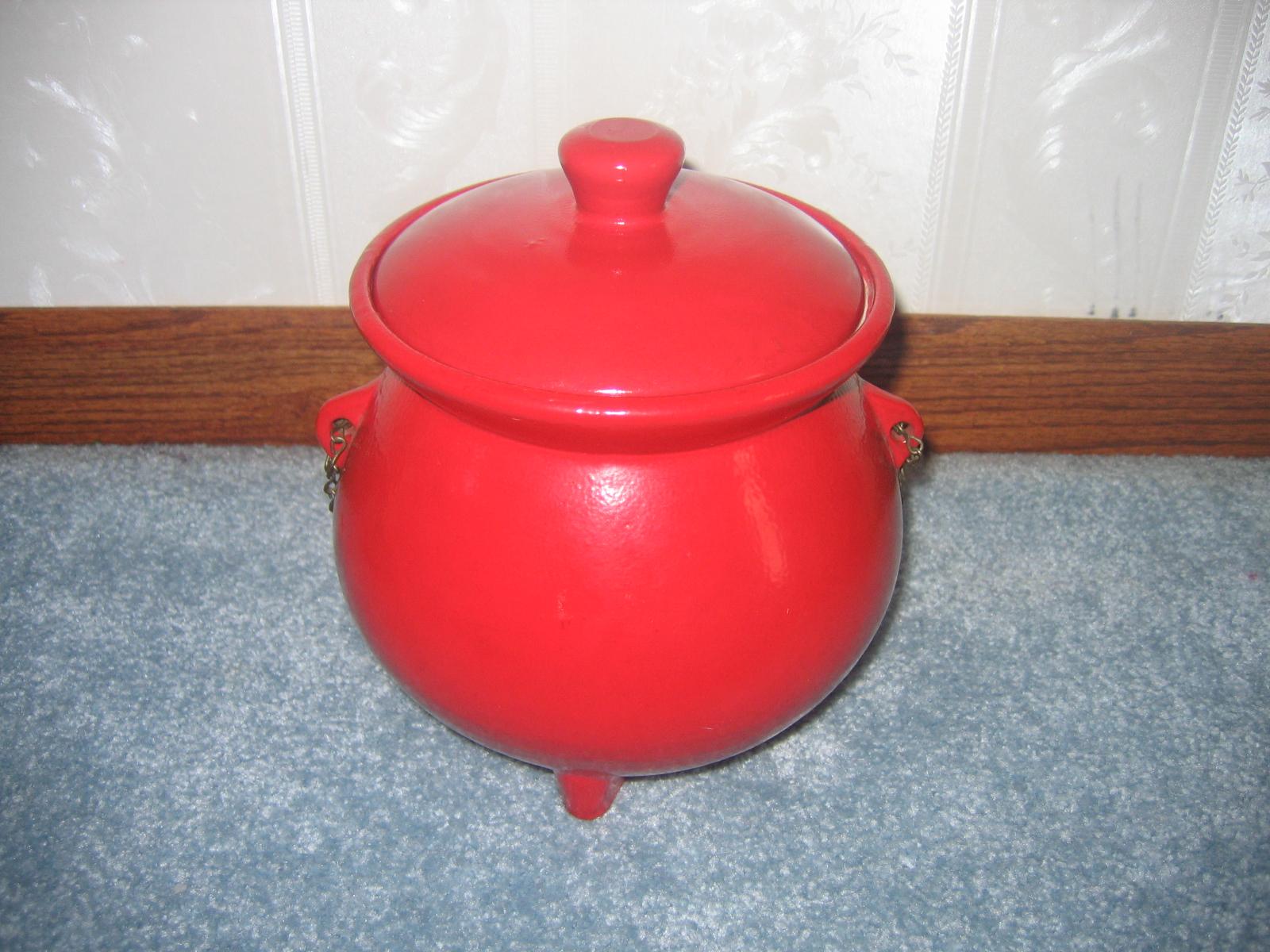 Vintage Red Kettle Ceramic Pottey Cookie Jar Item 403 For