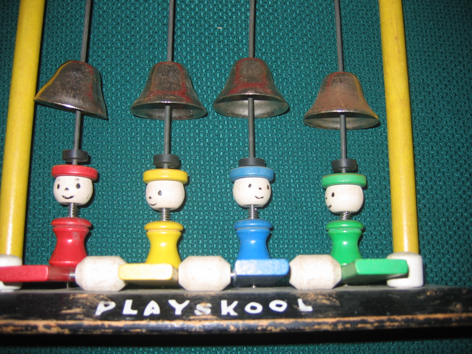 Playskool Musical Toys : Vintage playskool musical wooden mallet bell ringing item