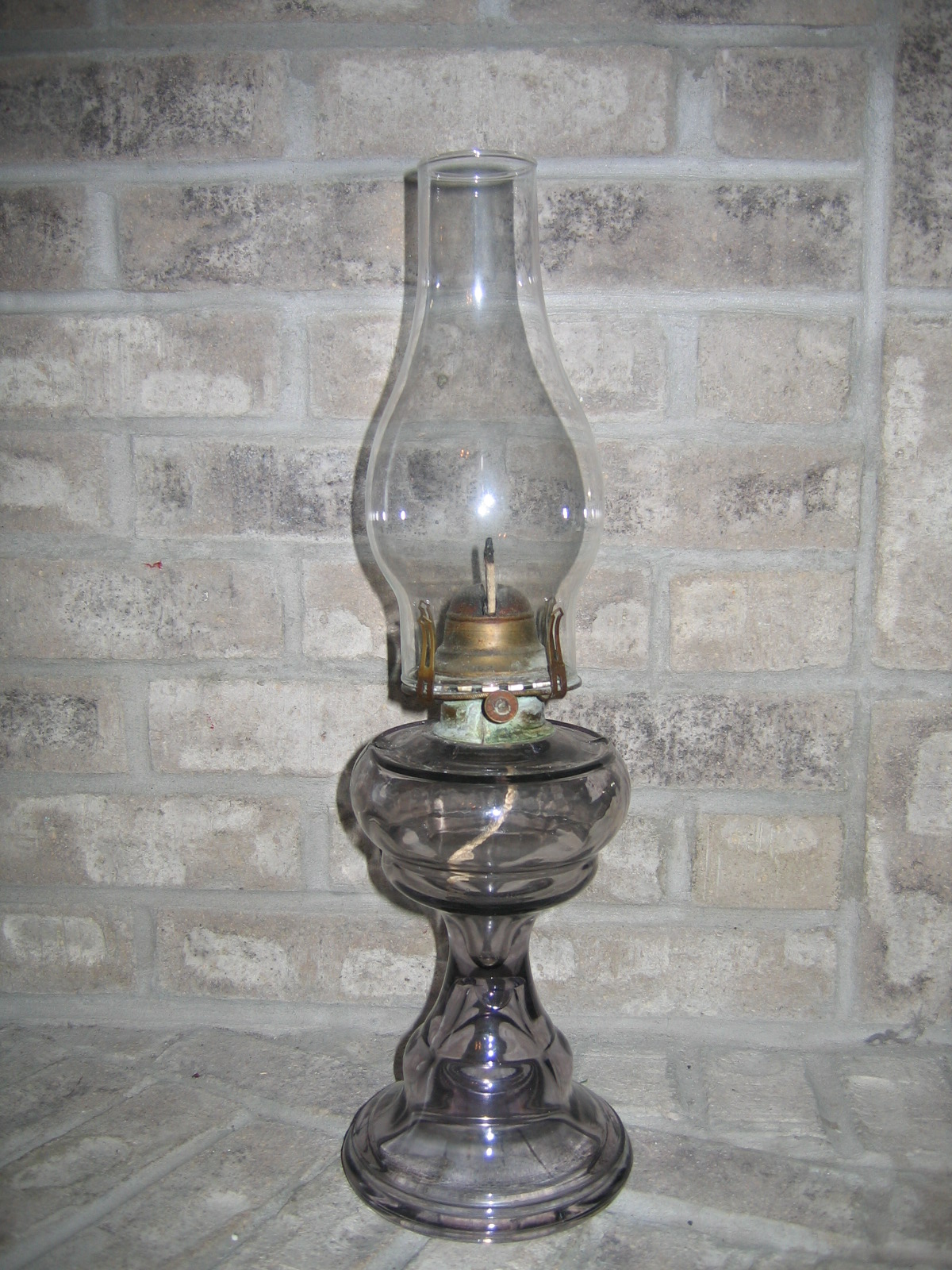 glass oil lamp light item 770 for sale classifieds. Black Bedroom Furniture Sets. Home Design Ideas