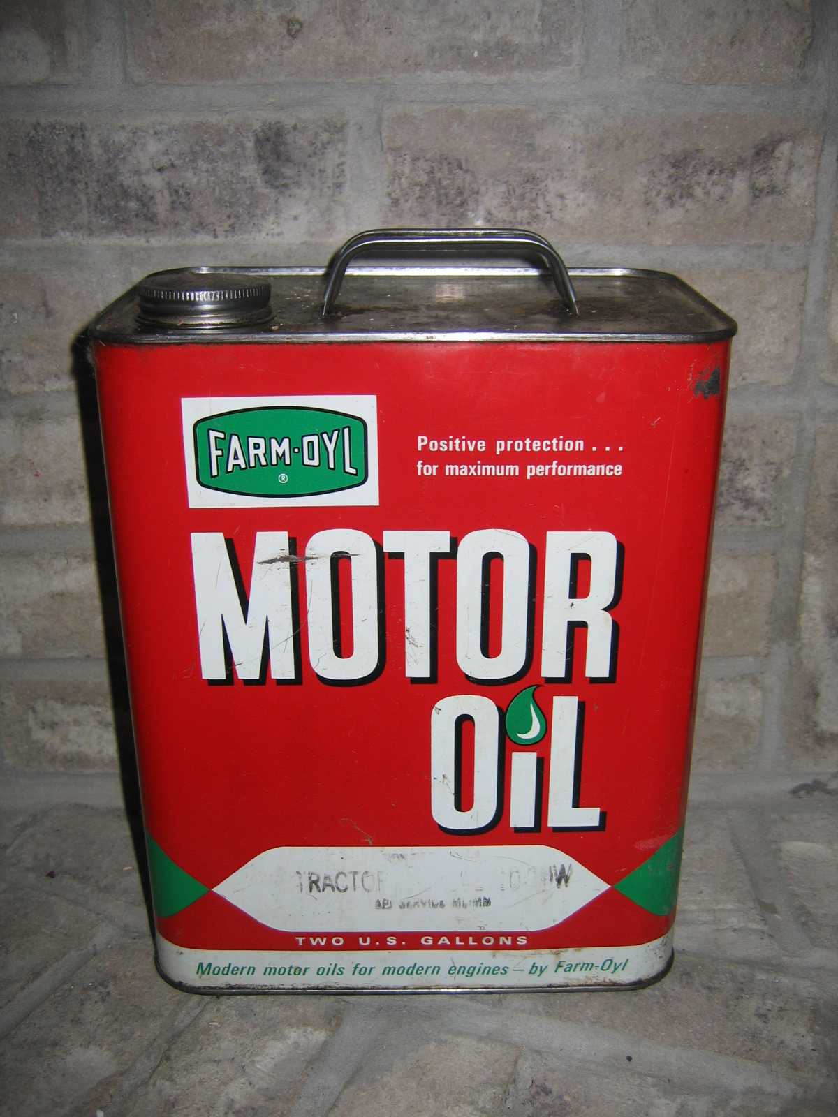 collectible farm oyl motor oil tin can item 769 for sale