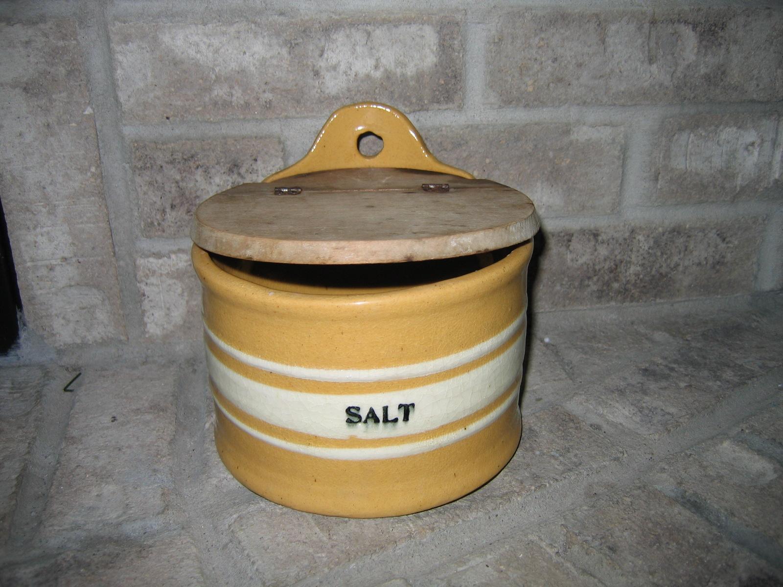 Antique Vintage Wall Hanging Salt Stoneware Pottery Cellar Box item #617 - For Sale & Antique Vintage Wall Hanging Salt Stoneware Pottery Cellar Box item ...