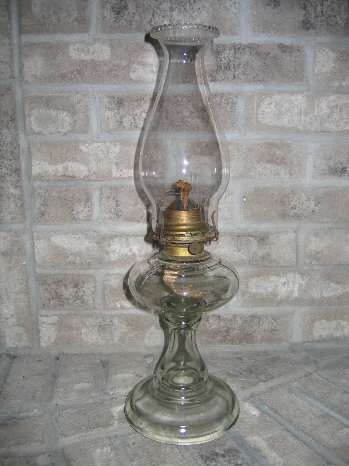 Antique Vintage Kerosene Glass Oil Lamp Lighting Item #906 For ...