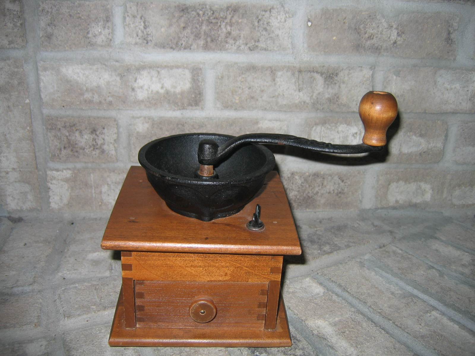 Hand Crank Coffee Grinder ~ Old vintage hand crank coffee mill grinder item for