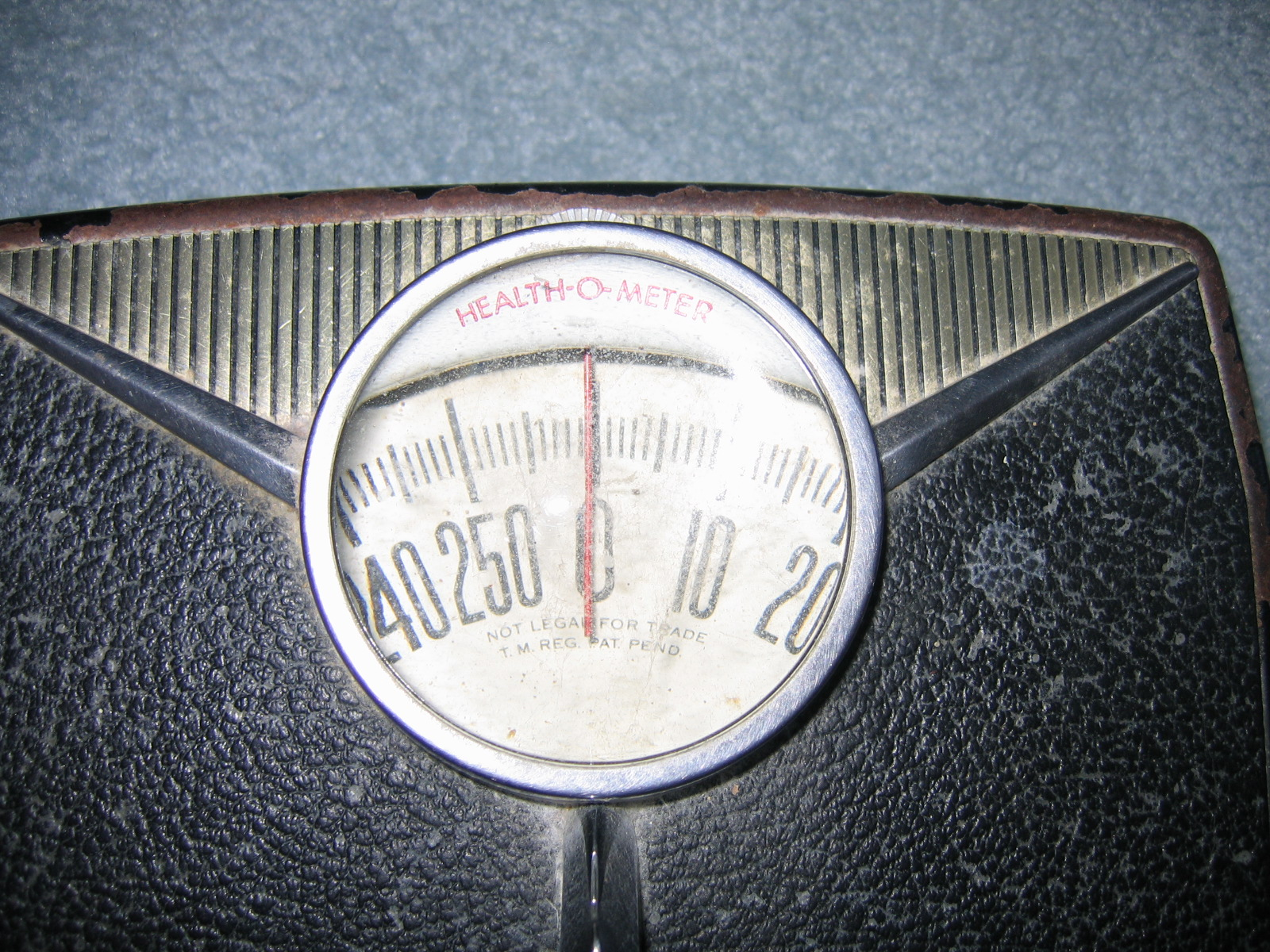 Vintage Health O Meter Bathroom Weight Scale Item 157 For