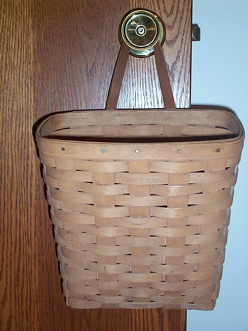 Vintage Longaberger Hand Made Woven Key Mail Hanging