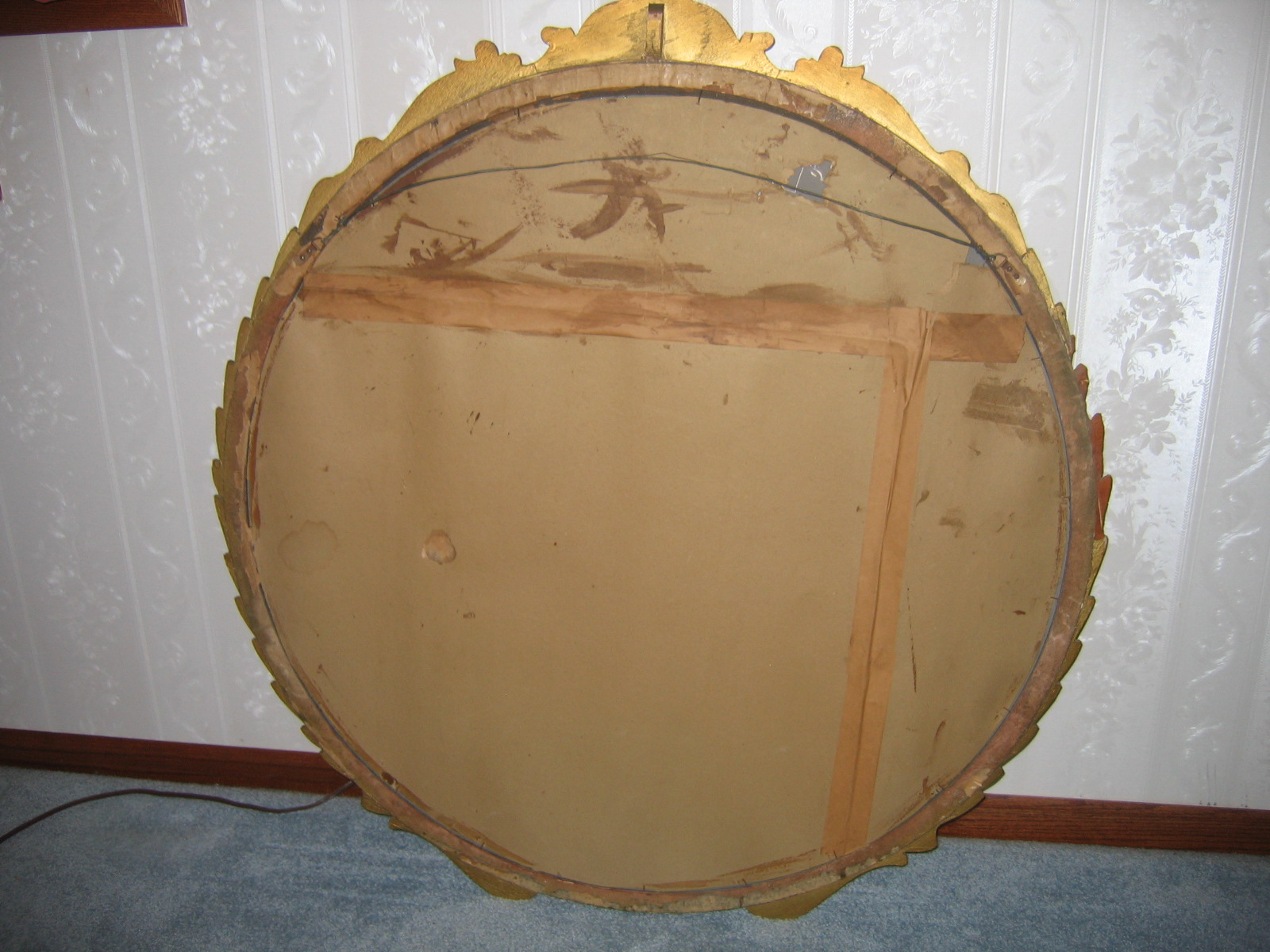 Antique Vintage Gold Gilt 41 1 2in Big Round Gesso Wall