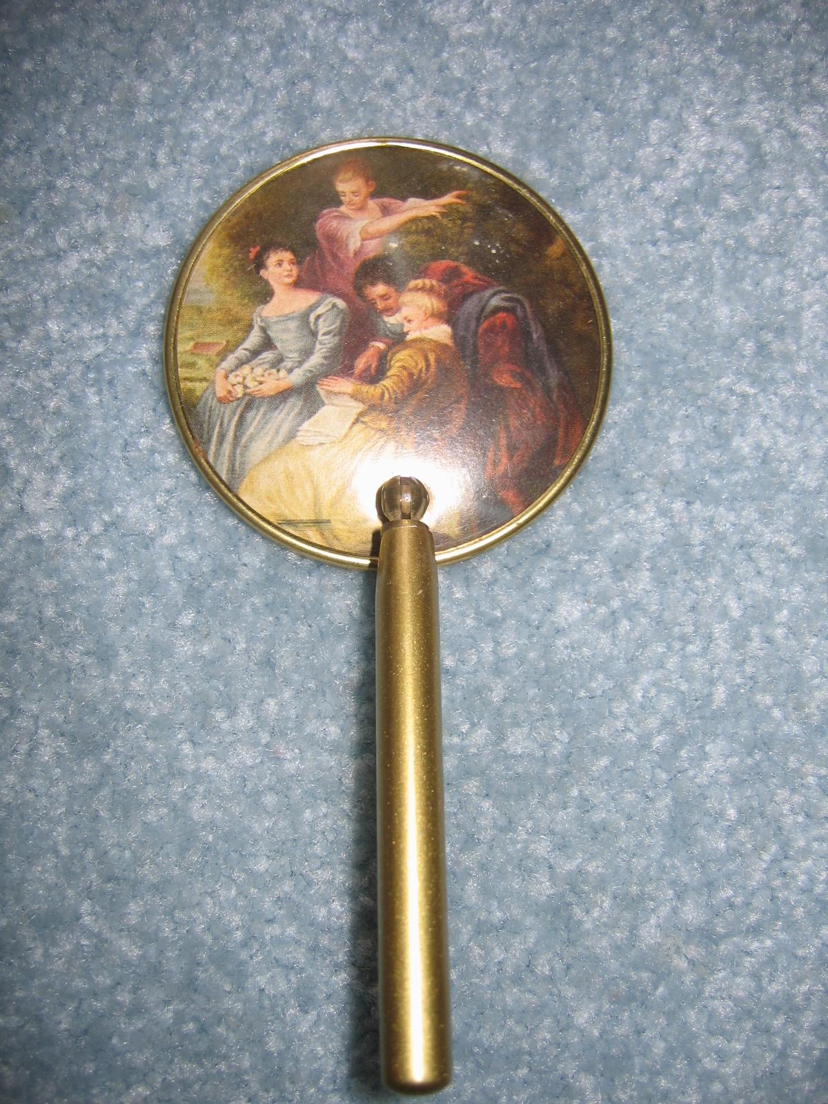 Vintage German Hand Held Vanity Mirror Item #622 For Sale ...
