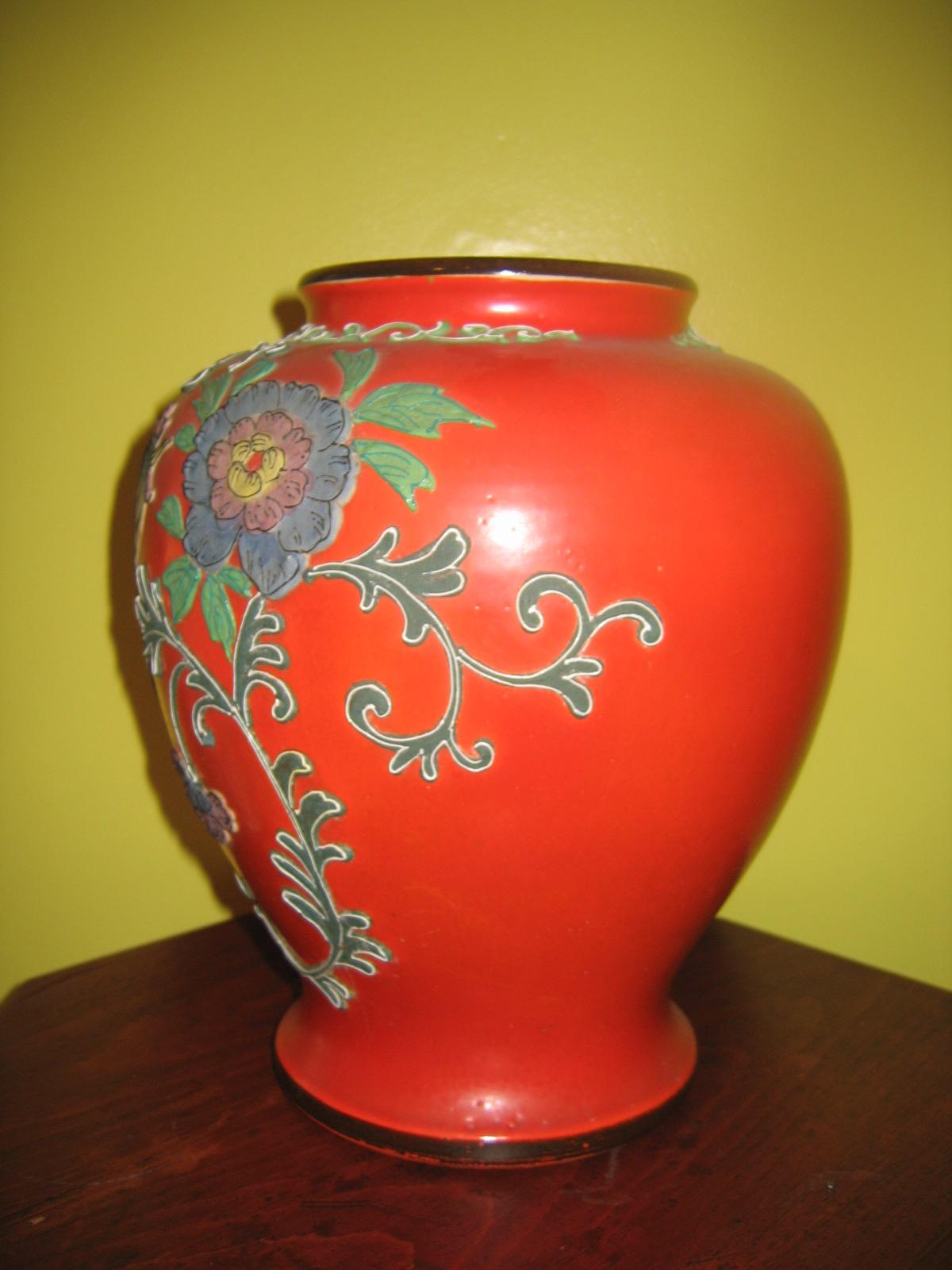 Vintage japanese ceramic pottery majolica floral flower vase vintage japanese ceramic pottery majolica floral flower vase item 275 for sale antiques classifieds reviewsmspy