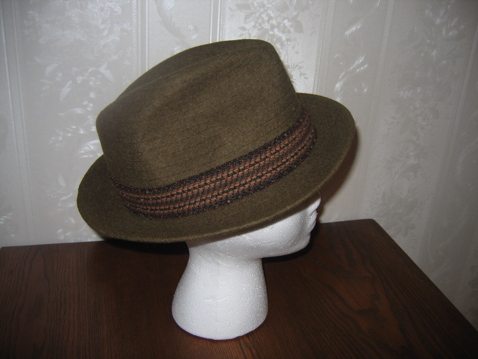 Pre-Owned Joseph E. Ward British Made Green Wool Vintage Mens Dress Hat  Item  654 - For Sale 18330a37ab8