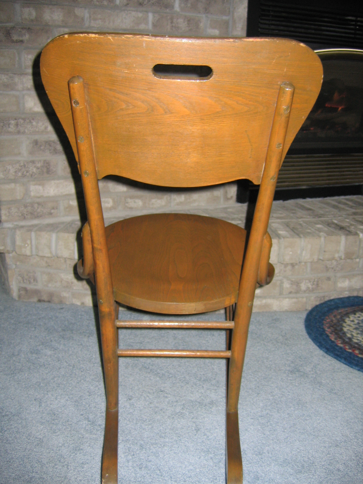 vintage ladies knitting wood rocking chair item 811 for sale classifieds. Black Bedroom Furniture Sets. Home Design Ideas