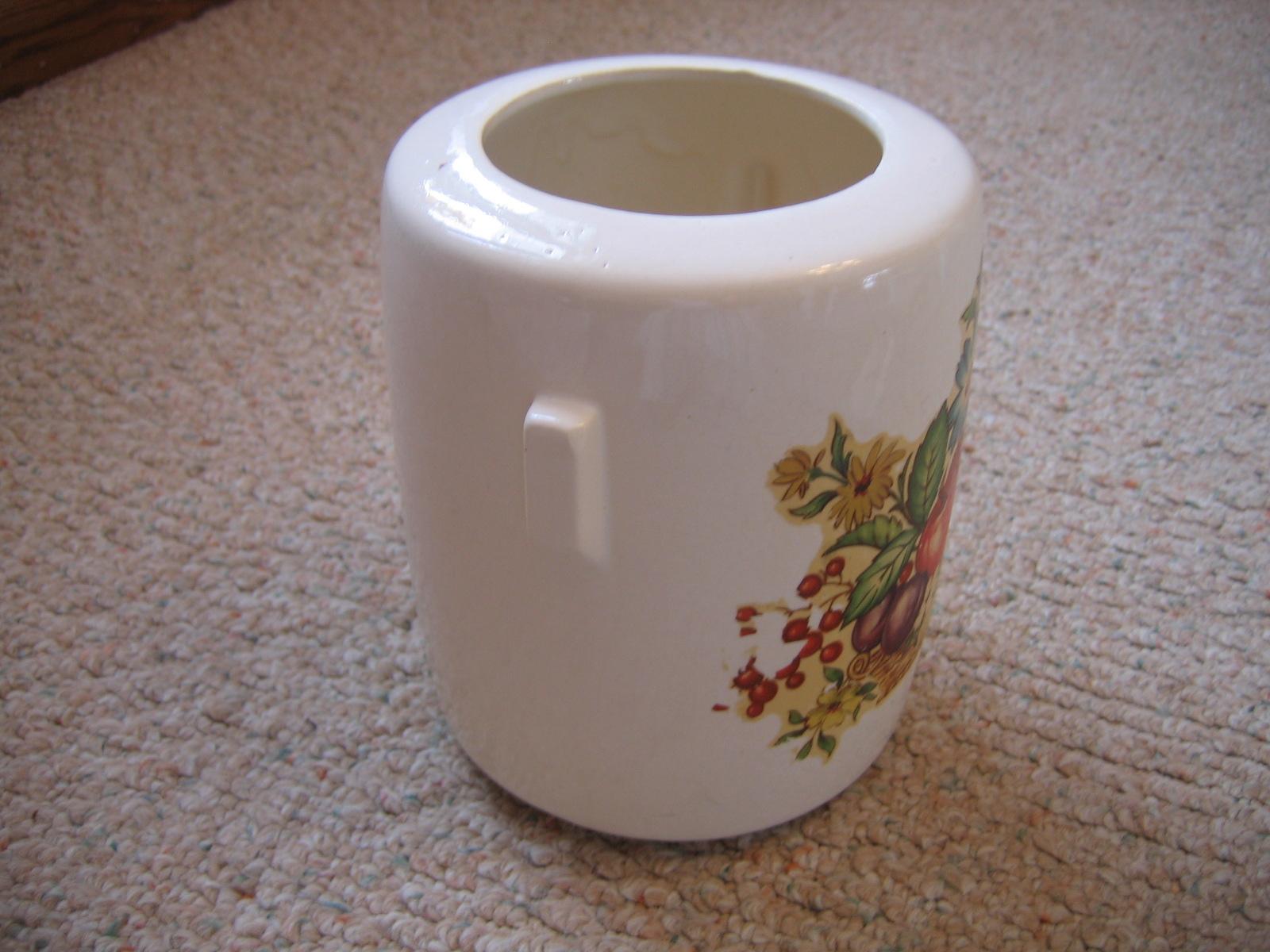 Vintage Mccoy Floral Fruit Design Pottery Cookie Jar