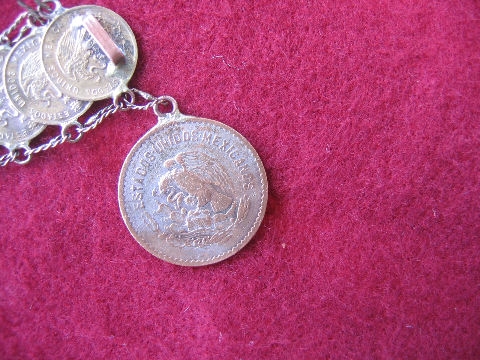 Unique vintage spanish mexicanos 8in coin ladies for Antique jewelry worth money