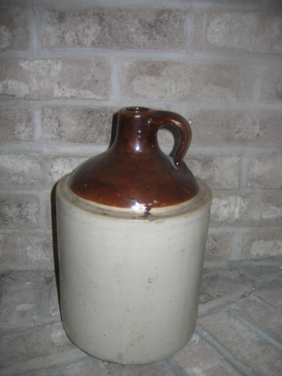 Antique Vintage 1 Gallon Whiskey Liquor Stoneware Pottery