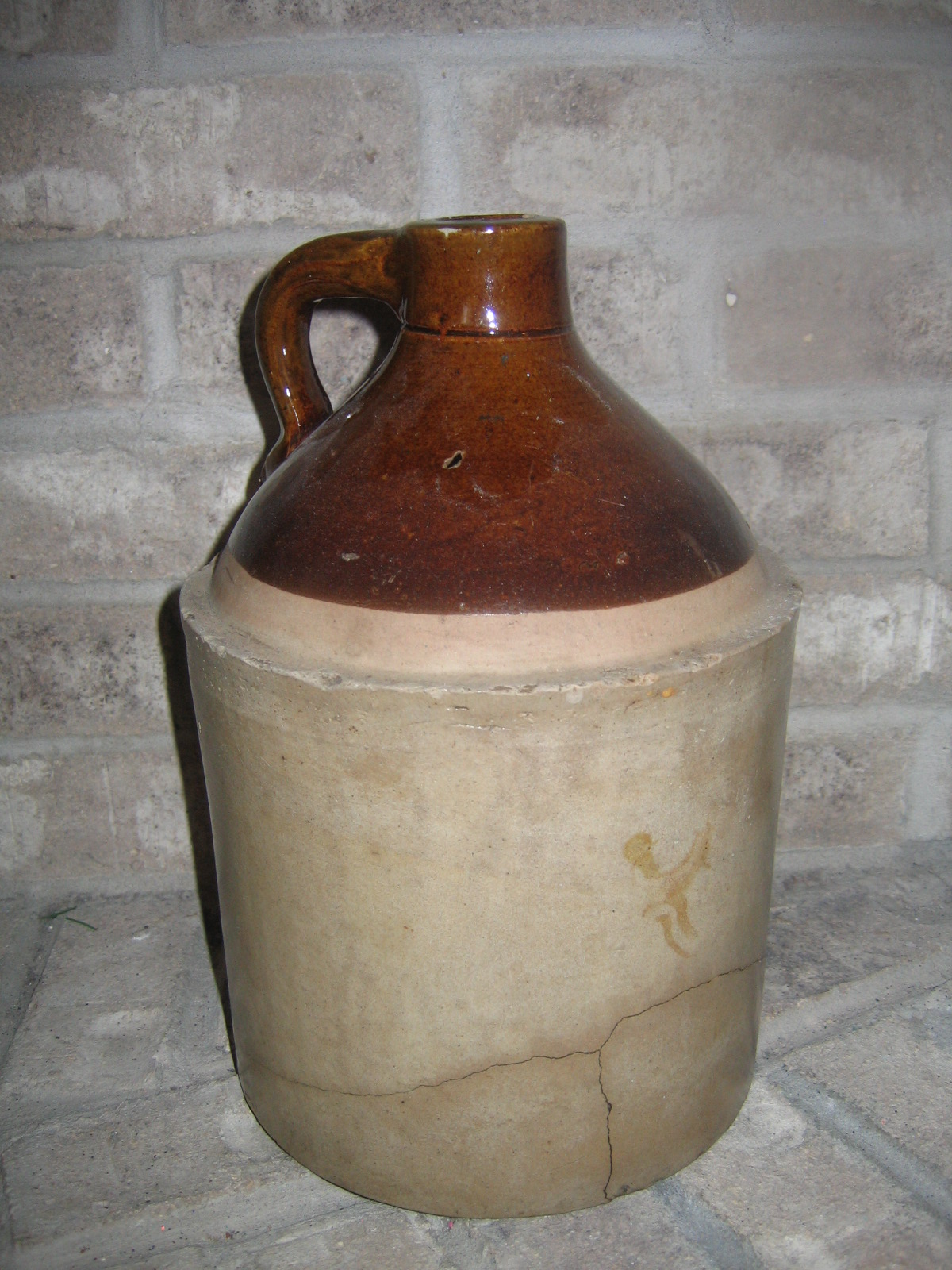 Antique Vintage 1 Gallon Old Whisky Liquor Stoneware