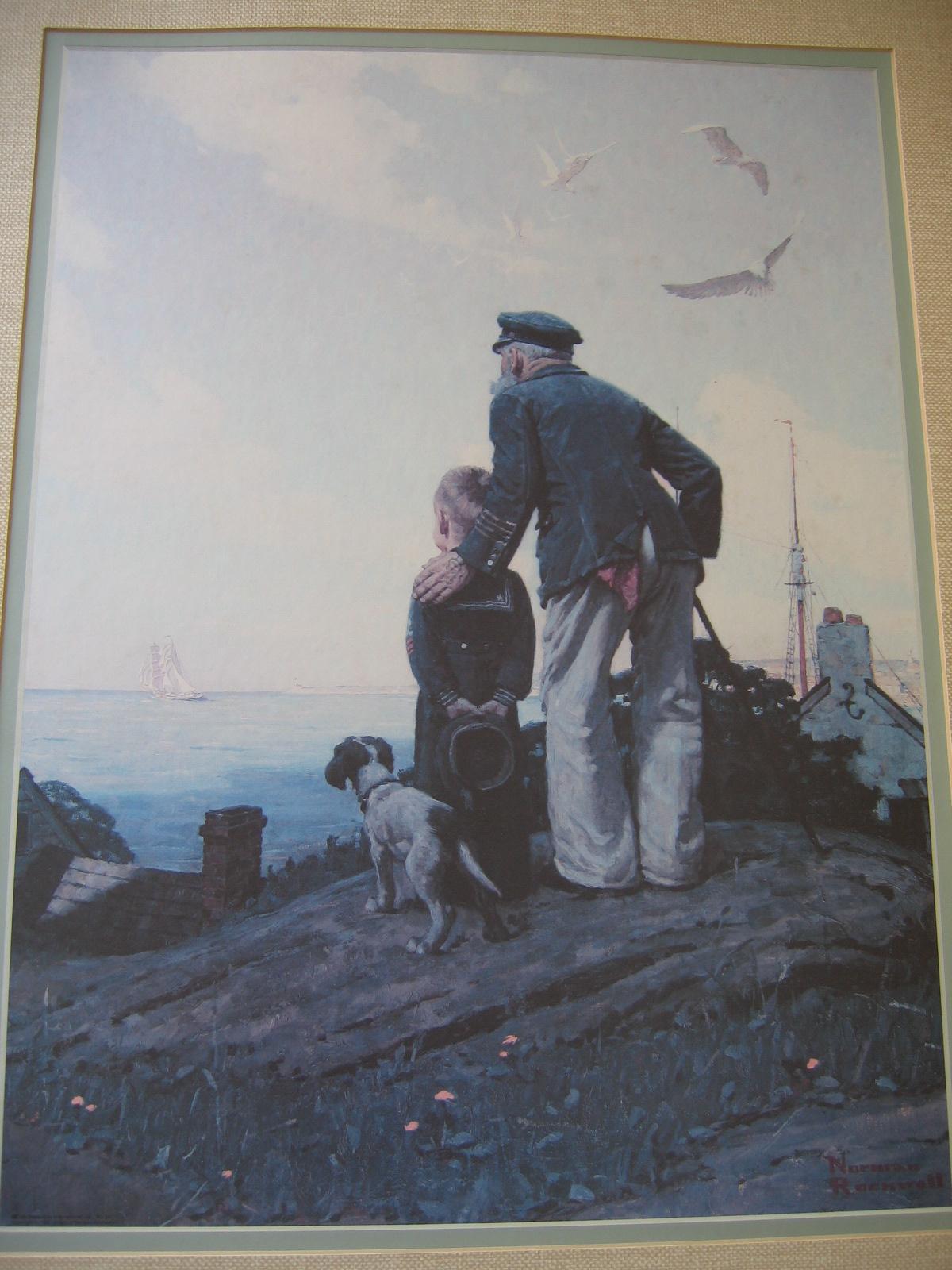 Vintage 1920 s norman rockwell framed print item 431 for sale