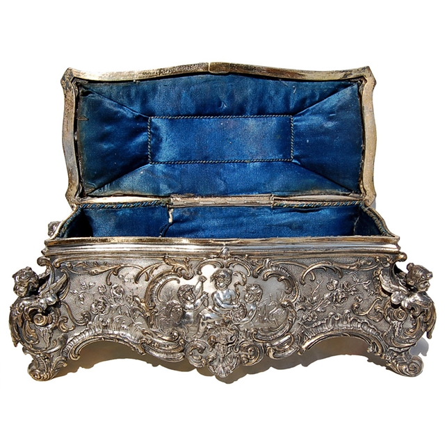 Something is. Vintage antique metal jewelry boxes consider, what