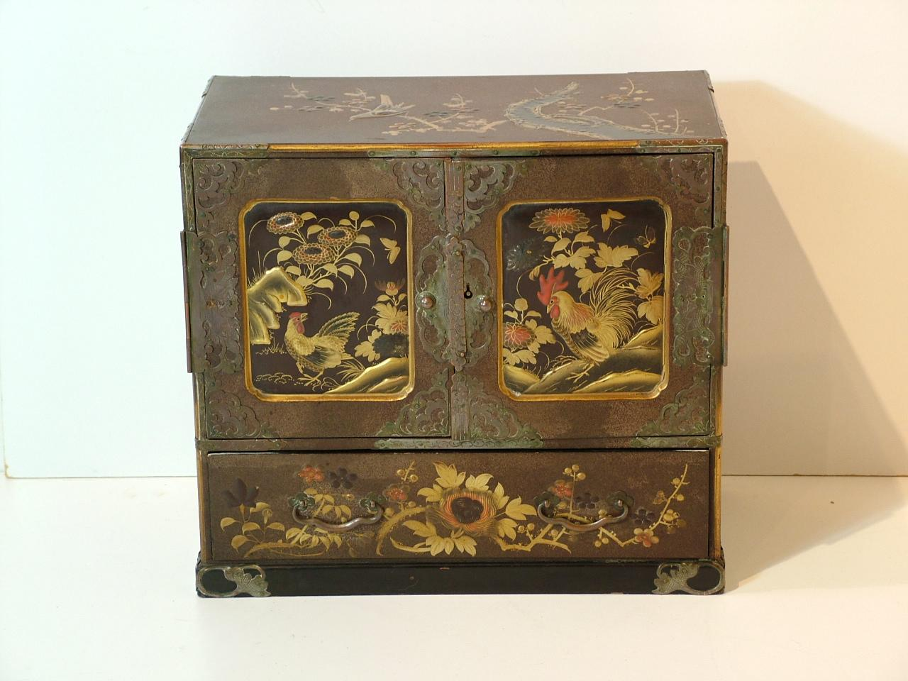 Meiji period japanese lacquered cabinet for sale for Oriental furniture for sale