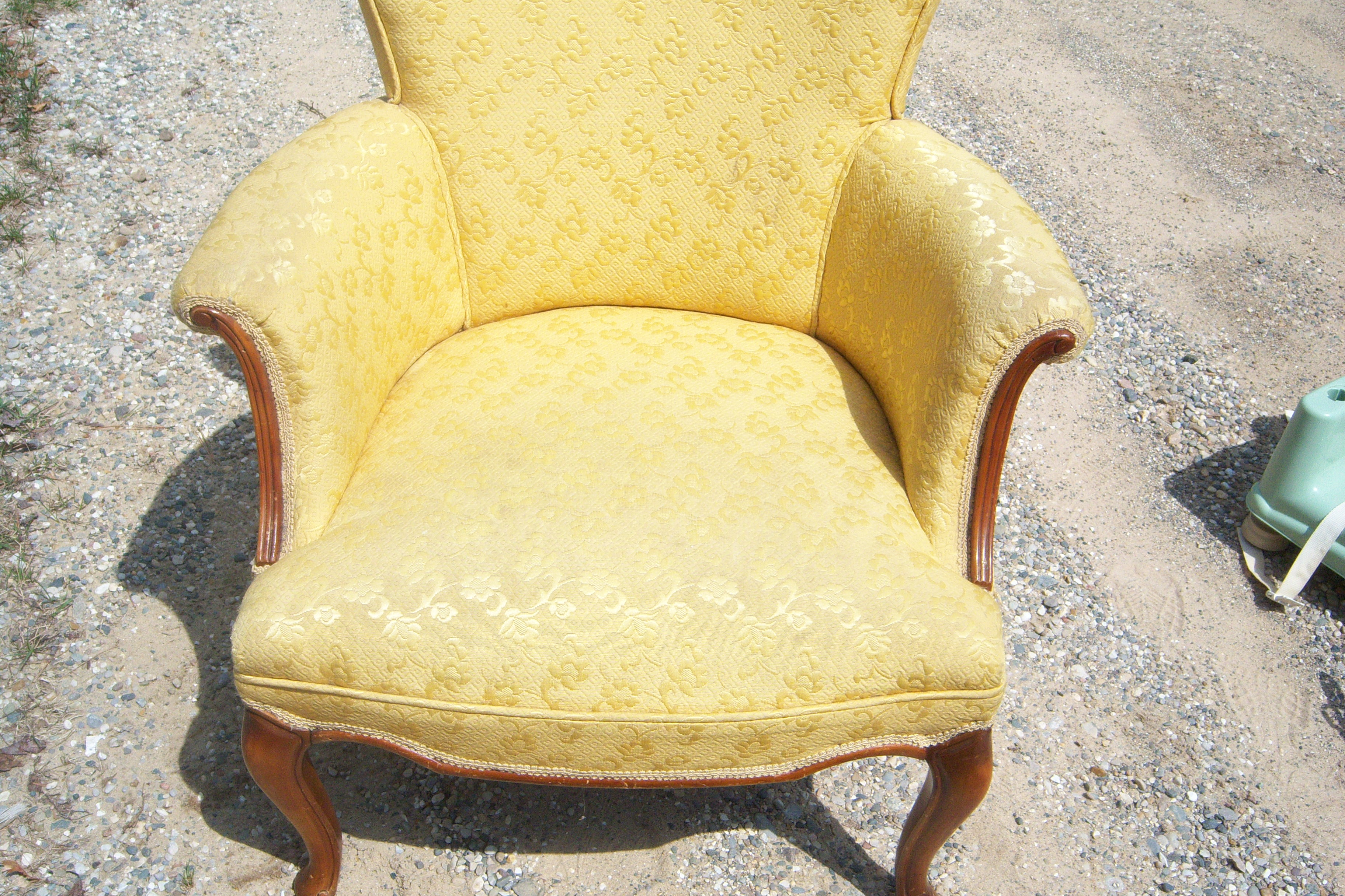 2 Antique Yellow Chairs For Sale Antiques
