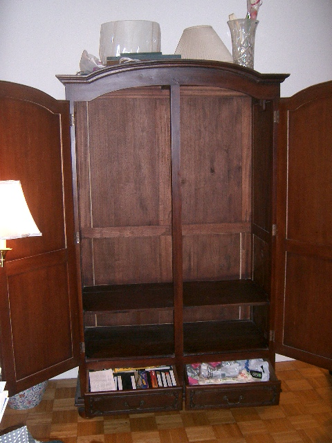 beautiful classic armoire with original key for sale. Black Bedroom Furniture Sets. Home Design Ideas
