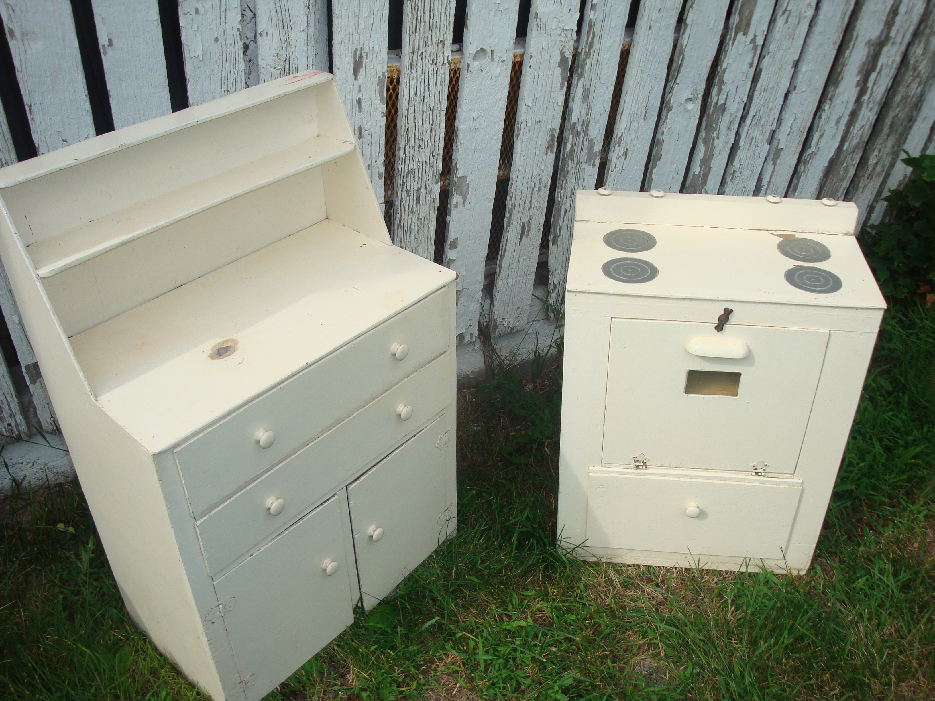 Homemade Play Kitchen Childrens Homemade Two Piece Kitchen Play Set For Sale Antiques