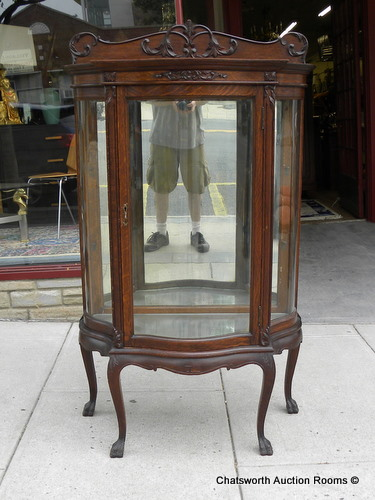 Rare RJ Horner Quartered Oak Diminutive Curio Cabinet   For Sale