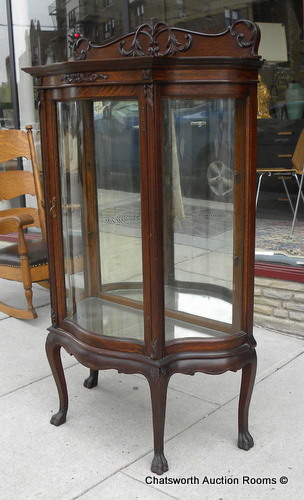 Rare RJ Horner Quartered Oak Diminutive Curio Cabinet For Sale ...