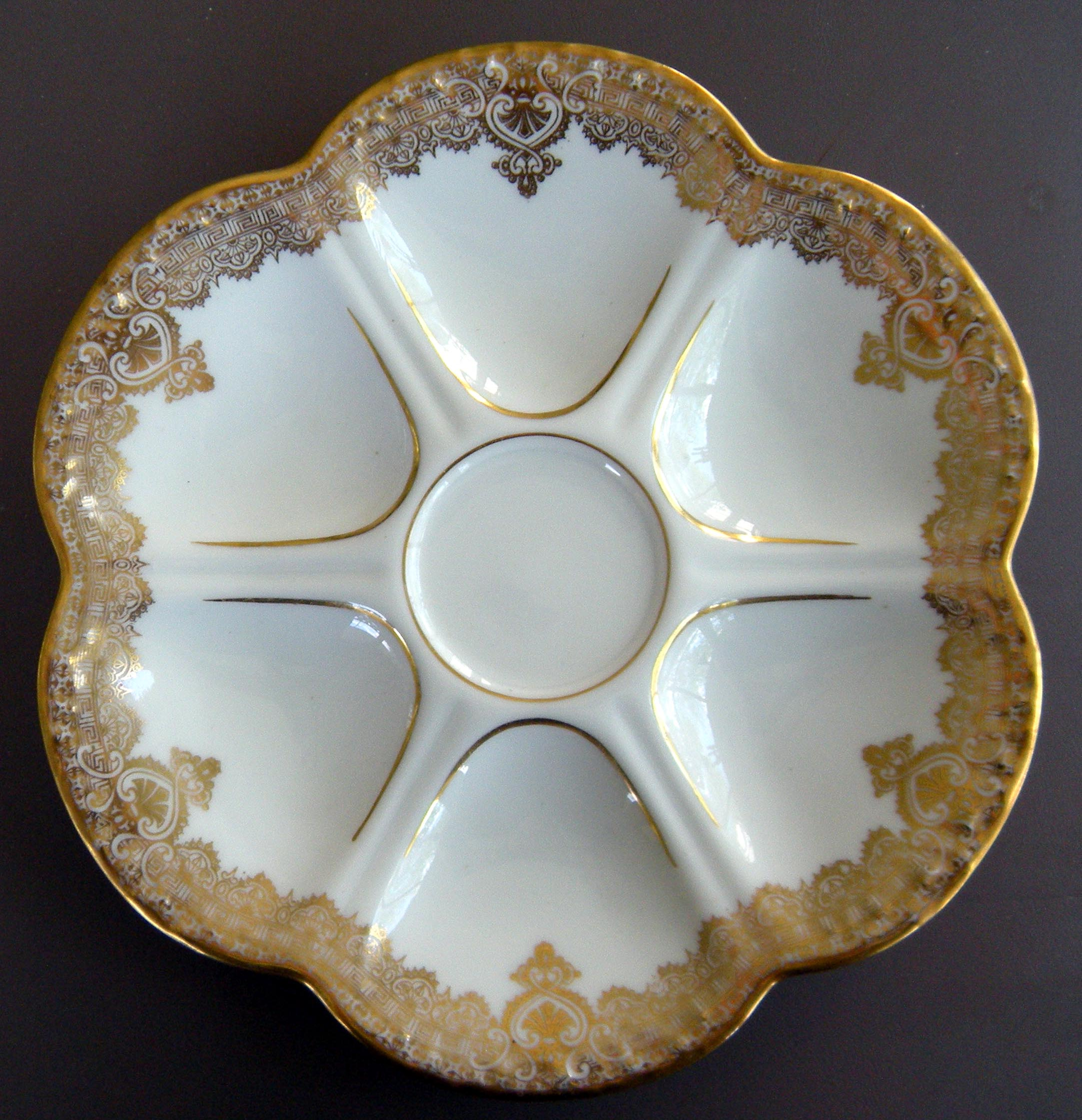 8 matched limoges oyster plates higgins seiter for sale classifieds. Black Bedroom Furniture Sets. Home Design Ideas
